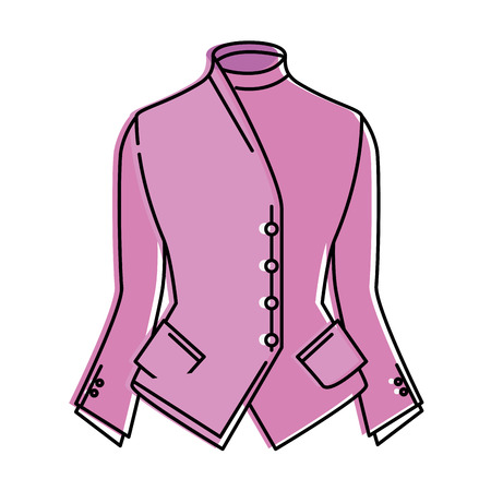 elegant blouse for women vector illustration design 向量圖像