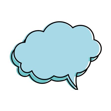 A speech bubbles isolated icon vector illustration design