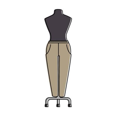 elegant pants for women in manikin vector illustration design Stok Fotoğraf - 96428850