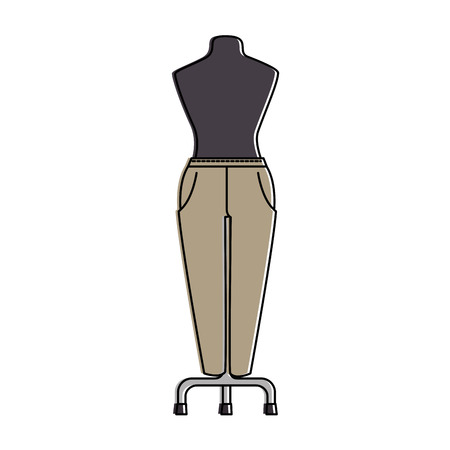 elegant pants for women in manikin vector illustration design