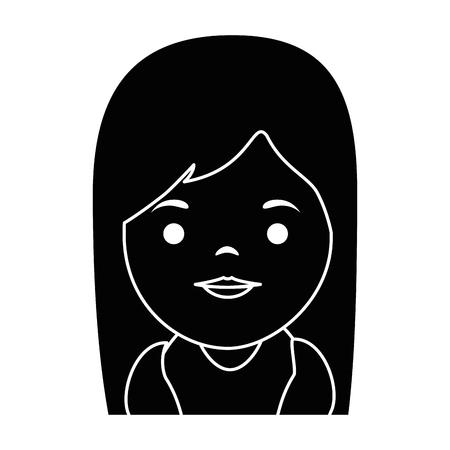 A cute virgin Mary character vector illustration design