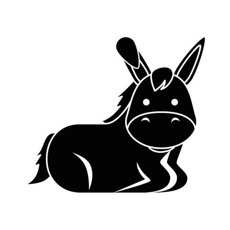 cute mule character icon vector illustration design Illustration