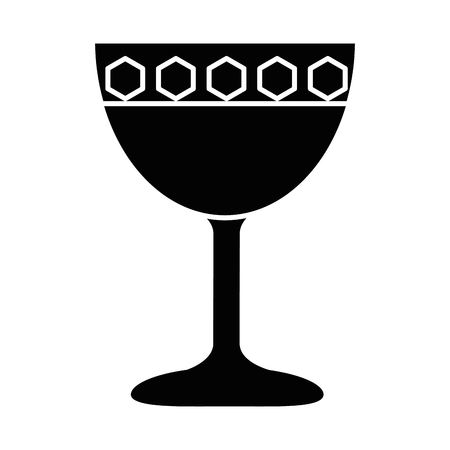 A cup chalice isolated icon vector illustration design Illustration