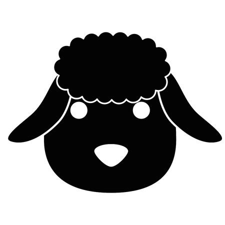 A cute sheep character icon vector illustration design Ilustração