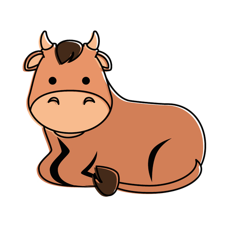A cute ox character icon vector illustration design 版權商用圖片 - 96556522