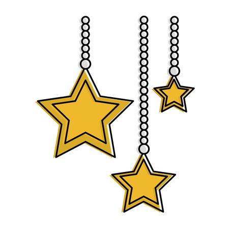 A stars hanging decorative icon vector illustration design