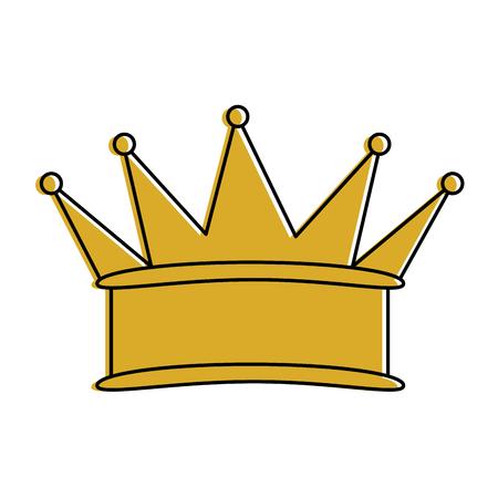 A king crown isolated icon vector illustration design Ilustração