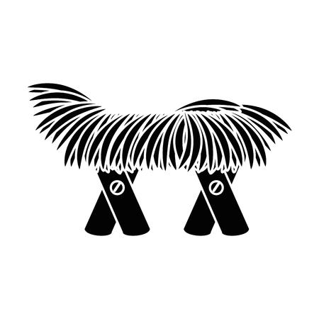 cradle of straw isolated icon vector illustration design Ilustracja
