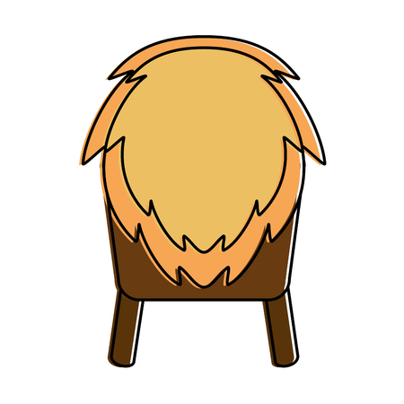 A cradle of straw isolated icon vector illustration design