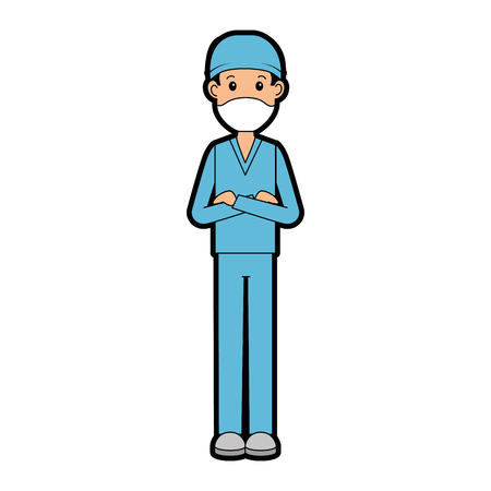 surgeon doctor avatar character icon vector illustration design