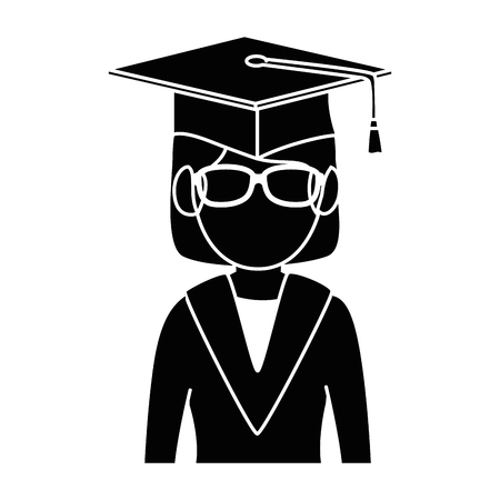 student graduated avatar character vector illustration design 일러스트