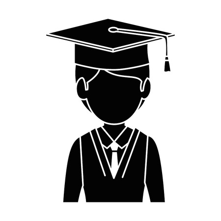 A student graduated avatar character vector illustration design Çizim