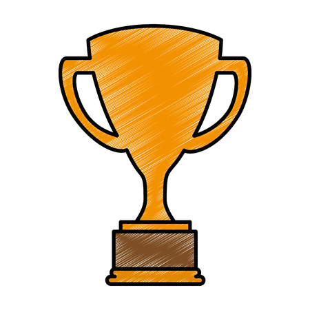 A trophy cup isolated icon vector illustration design