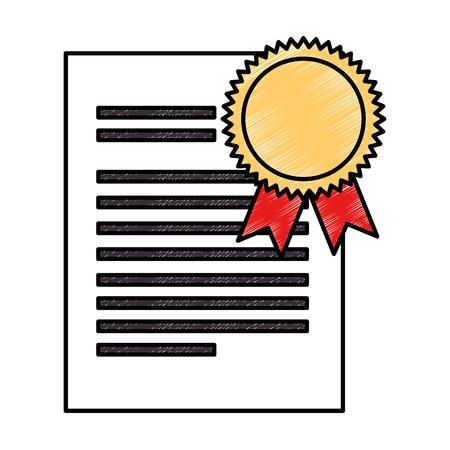 A graduation certificate isolated icon vector illustration design Illustration