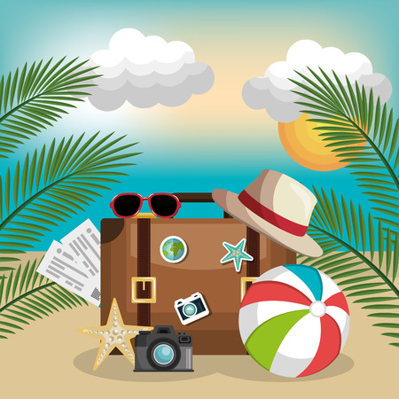 summer vacattions set icons vector illustration design Vectores
