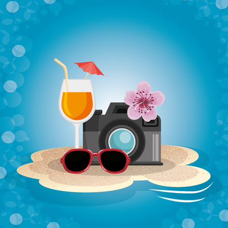 summer vacattions set icons vector illustration design 向量圖像
