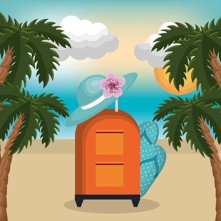 summer vacattions set icons vector illustration design Ilustração