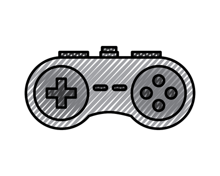 Video console gamepad device buttons vector illustration drawing design