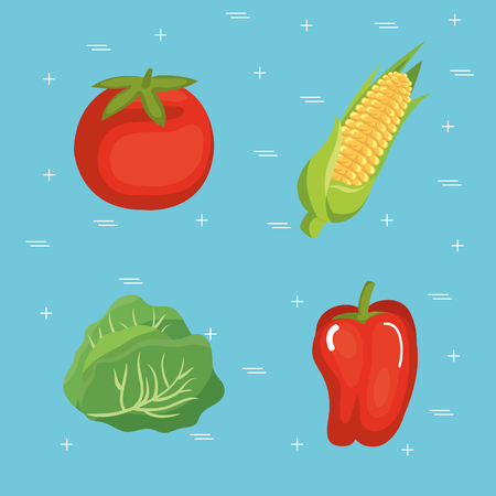 Supermarket groceries healthy food vector illustration design