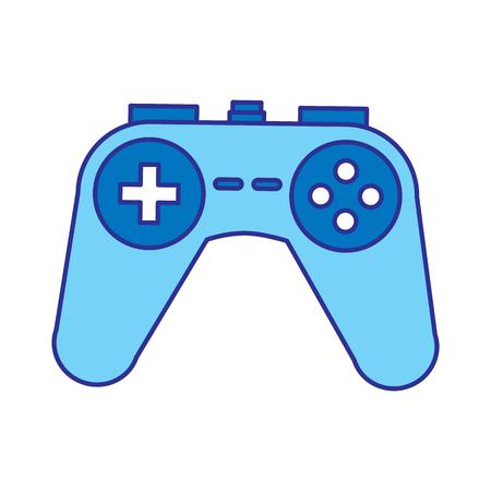 video console controller gadget technology vector illustration blue design