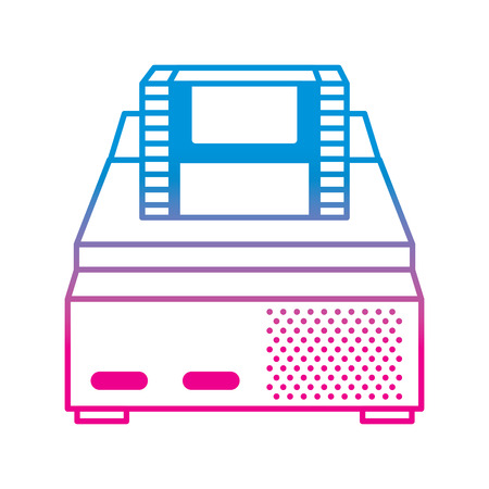 retro video console game and cassette vector illustration degrade color line image Imagens - 96506202