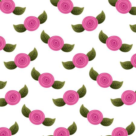 패턴 장식 꽃 카네이션과 나뭇잎 배경 벡터 일러스트 레이 션 스톡 콘텐츠 - 96500634