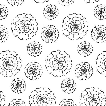 flowers bloom floral natural pattern decoration vector illustration