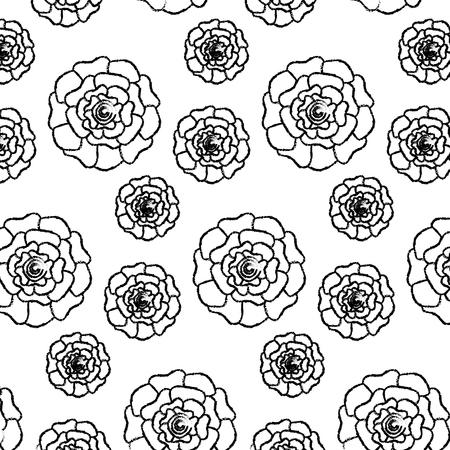 flowers bloom floral natural pattern decoration vector illustration sketch design
