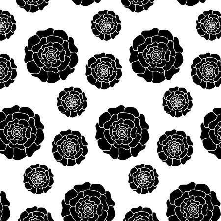 flowers bloom floral natural pattern decoration vector illustration pictogram design Ilustração