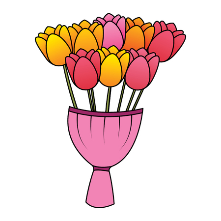 Flower decoration vector illustration Illusztráció