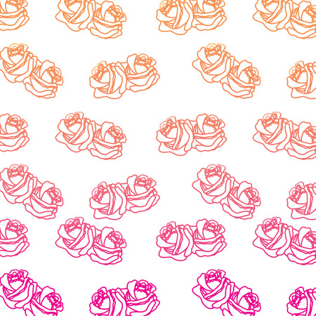 Roses ornament decoration pattern vector illustration Illustration
