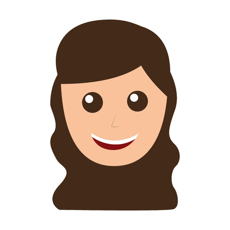 young woman avatar character vector illustration design Çizim