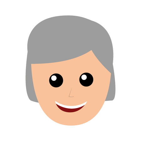 old man avatar character vector illustration design Illustration