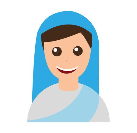 cute nun avatar character vector illustration design Illusztráció