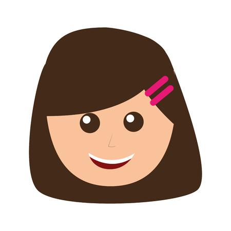 young woman avatar character vector illustration design Stok Fotoğraf - 96489766