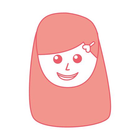 young woman avatar character vector illustration design Illusztráció