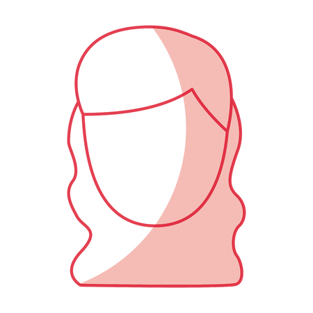 A young woman avatar character vector illustration design