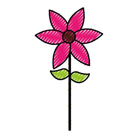 cute flower garden isolated icon vector illustration design