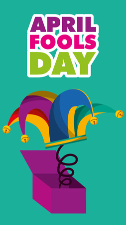 april fools day banners decoration greeting card vector illustration Illustration