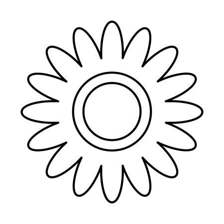 Flower decoration ornament natural image vector illustration thin line Stock Illustratie