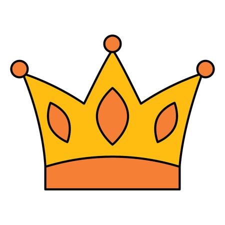 Gold crown jewelry royal monarch vector illustration Ilustração