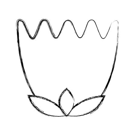 花の残り装飾自然なアイコンベクトルイラストスケッチ画像  イラスト・ベクター素材