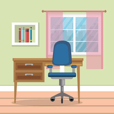 home Office place house vector illustration design Ilustração