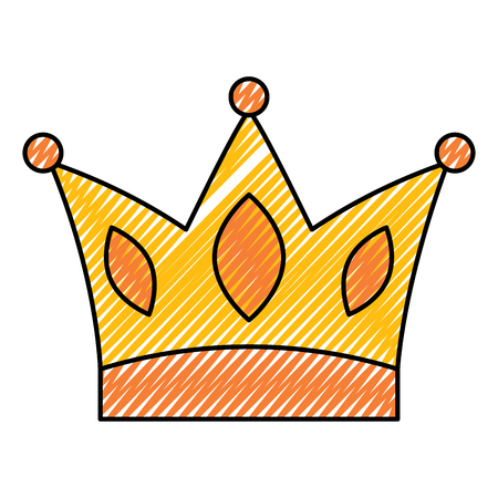 gold crown jewelry royal monarch vector illustration drawing image