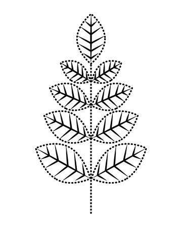 leaves branch decoration natural image vector illustration
