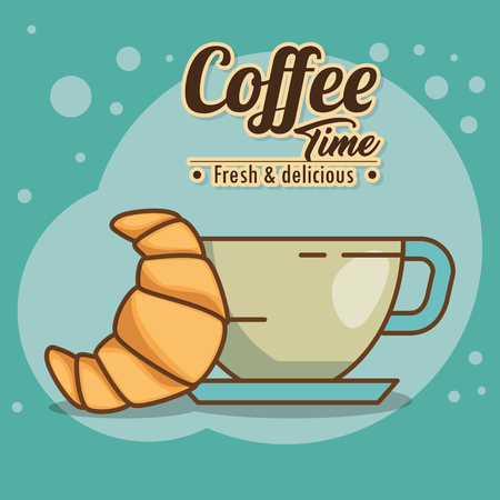 おいしいコーヒータイム要素ベクトルイラストデザイン  イラスト・ベクター素材