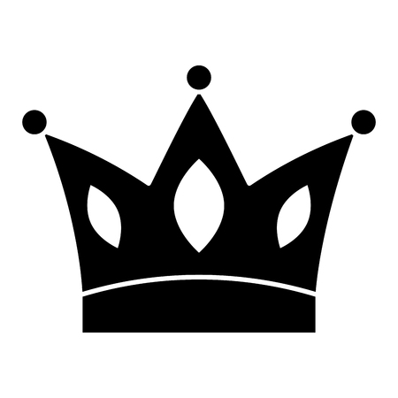 crown jewelry royal monarch vector illustration black and white design Stock Vector - 96548751
