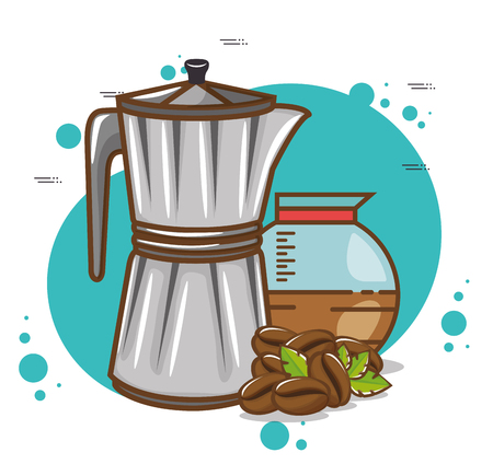 Delicious coffee time elements vector illustration design. Illustration