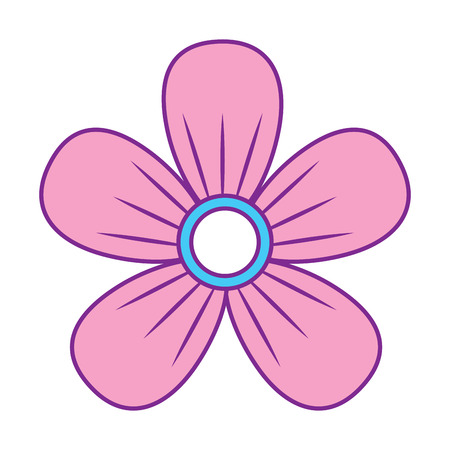 flower decoration ornament natural vector illustration pink and blue design