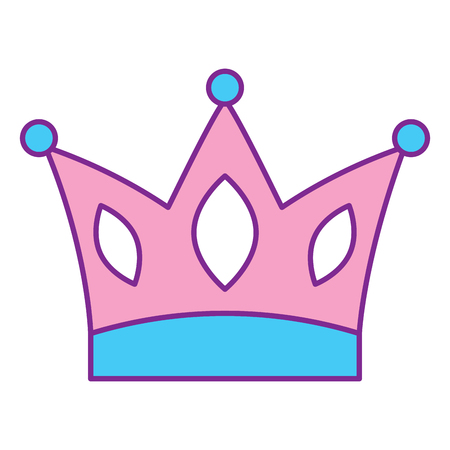 crown jewelry royal monarch vector illustration pink and blue design